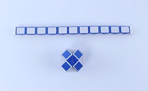 (jinzhicheng Kinder Magic Snake Form Spielzeug 3D Rubiks Würfel Puzzle Twist Puzzle Spielzeug Geschenk (zufällige Farbe))