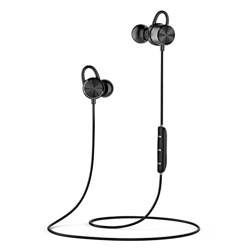 Bluetooth Kopfhörer, Parasom A13 V4.1 In-Ear Ohrhöre Kopfhörer Wireless Sport Headset mit Mic/Magnetverschluss für Apple Watch iPhones 7 6 6S Plus Samsung Huawei HTC LG Handy Telefon Smartphones Android MP3 Tablet Nexus Schwarz Apple Bluetooth-telefon