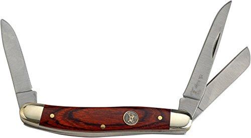 Elk Ridge Taschenmesser Hunter Braun-Pakkaholz-Griff, ER-323W