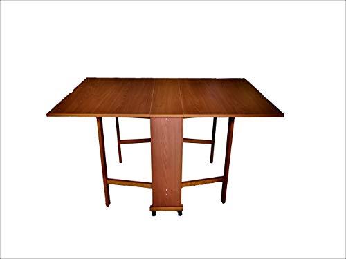 Liberoshopping tavolo giorgia a consolle richiudibile 78 x 90 14 cm con ruote pirottanti (noce)