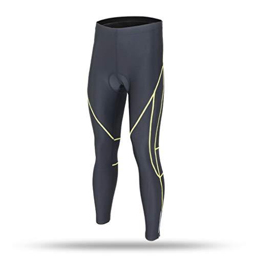 OLEEKA Radhose für Herren Rennrad MTB Reiten Lange Hosen Atmungsaktive Bike-Strumpfhose mit Quick Dry Gel Pad Highlight Leg Lines