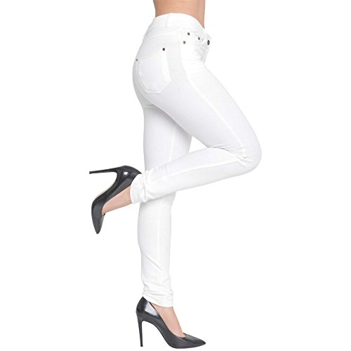 PURL New Womens Skinny Fit Coloured High Waisted Stretchy Jeggings Ladies Zip Up Jeans Pants Trousers Leggings Plus Size 8 10 12 14 16 18 20 22 24 26 28
