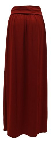 candy-floss-ladies-womens-long-jersey-maxi-skirt-wine-size-ml-12-14