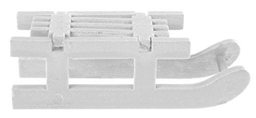 """Preisvergleich Produktbild Tischdeko """"Kleine Schlitten"""" 4er Pack weiß"""