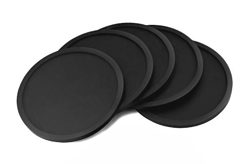 lcz-silicone-drink-coasters-set-of-5-black