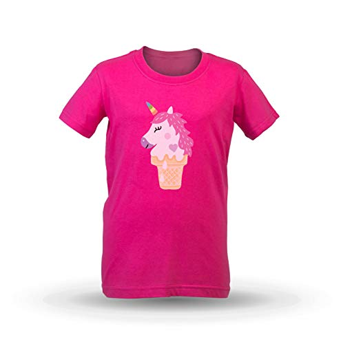 89d8802f4 KrisTalas Camiseta de Las niñas Unicorn T-Shirt Cute T-Shirt Ice-Cream T -Shirt Crazy Ice-Cream Fantasy ...