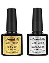 Annabelle (Top Coat +Base Coat) UV Nagellack Soak Off UV Gel Nagellack Nail Art (7.3ml/pc Lot de 2) 011