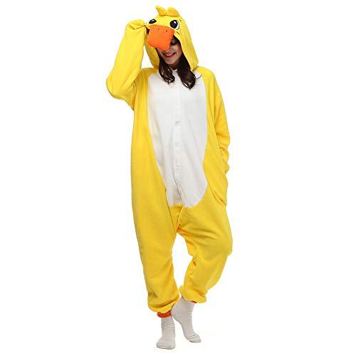 Halloween Ente - Pyjamas Herren Bekleidung Animal Erwachsene Unisex
