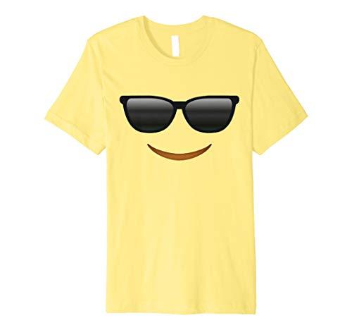 Cool Sonnenbrille Emoji-Face Kostüm T-Shirt für Halloween