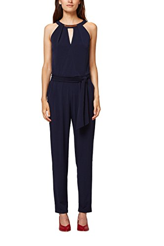 ESPRIT Collection Damen Jumpsuit 068EO1L003, Blau (Navy 400), Large