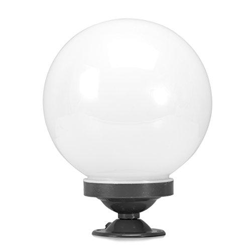 Homestia Draussen Pillar-Lampe Modern Style Aluminium Oberfläche Acryl-Kugel-Lampen-Farbton 20CM (Schraube-lampen-farbtöne)
