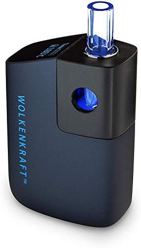 WOLKENKRAFT FX Mini Premium-Vaporizer/Verdampfer für Kräuter & Extrakte + KONVEKTION + nur 25 Se. Heat-Up + ausziehbares Glasmundstück + hohe Sicherheit *Nachtblau* - NIKOTINFREI!!