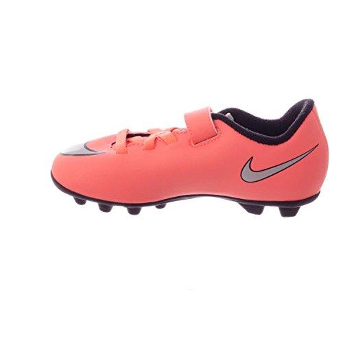 Nike - Jr Mercurial Vortex 2 (V) Fg-r, Scarpe sportive Unisex – Bimbi 0-24 Giallo / Argento (Brght Mng / Mtllc Slvr-Hypr Trq)