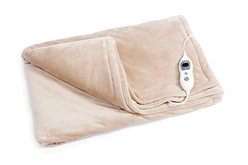 Vidabelle VD-5735 Elektrische Kuschel-Wellness-Heizdecke mit neuartiger Heiztechnologie, beige