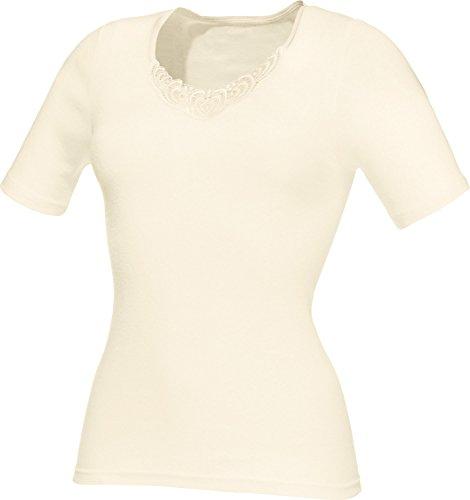 Con-ta Unterhemd 1/2-Arm Spitze Creme Größe 42 (Damen-angora-mischung)