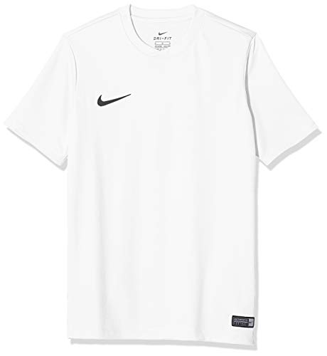 Nike Park VI Jersey SS Youth, Sport Shirt Bambino, Bianco (White/Black 100), Medium