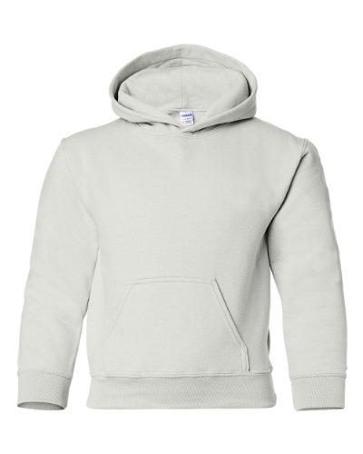Gildan Heavy Blend Youth Hooded Sweatshirt, White, M 50 Blend Youth Hooded Sweatshirt