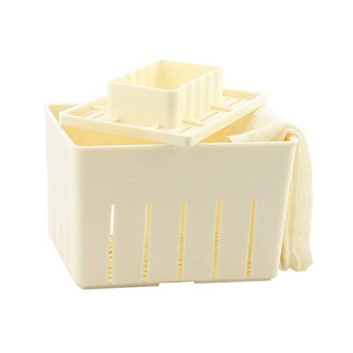 MENGCORE Macchina per fare il tofu fai-da-te, kit per fare il tofu con stampo + panno per formaggio di soia, utensili da cucina