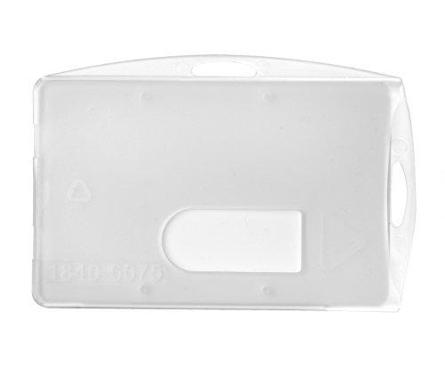 Karteo® Ausweishülle Ausweishüllen Kartenhülle Kartenhüllen Ausweishalter Kartenhalter Halter aus Plastik Hartplastik transparent für 1 eine Karte Ausweise Kreditkarten Dienstausweise EC Karte Bankkarten Gesundheitskarten (54 x 86mm)