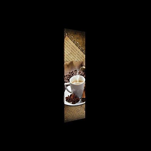 FORWALL Leinwandbild Kunstdruck Wandbild Kaffeebohnen und Gewürze O3 (45cm. x 145cm.) AMFPP20218O3...