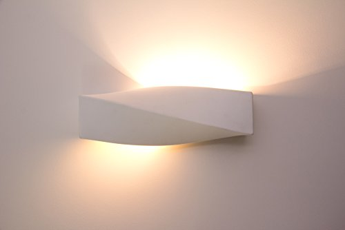 Applique da parete interni design elegante applique moderna bianca in gesso ceramica luce - Applique camera letto ...