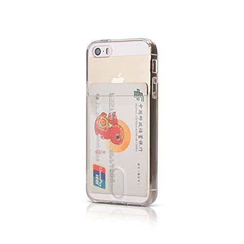 Wormcase ® Kunststoffhülle mit Kartenfach kompatibel mit iPhone 5 - 5S - SE - Farbe Transparent - TPU Schale Back-Cover Schutz-Tasche Kratzfest Stoßfest Bumper Crystal-Clear dünn leicht schmal