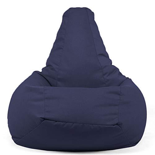 Arketicom New 68SESSANTOTTO Sitzsack dormosa Fußstütze waschbar Sitzsack Wasserabweisend von modernes Design Couchtisch für Innen und Außen Gefüllt mit Styroporkügelchen zeitgenössisch Marineblau