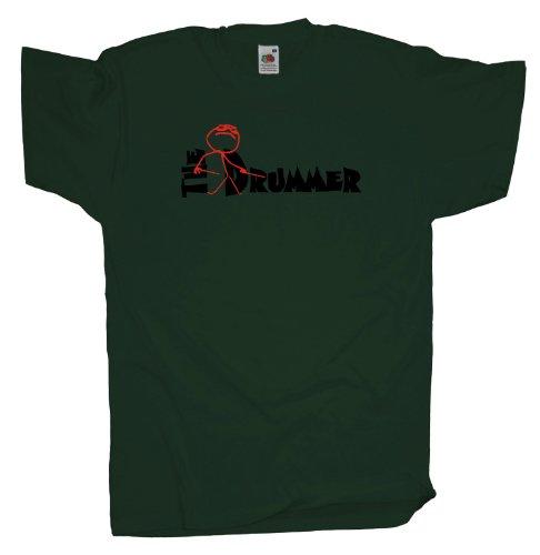 Ma2ca - The Drummer Schlagzeuger - T-Shirt Bottle Green