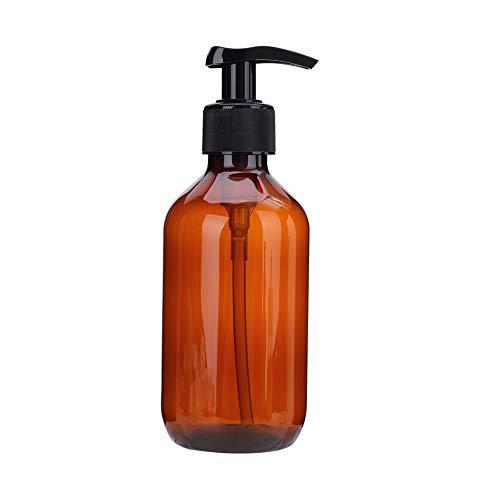 300 ml PET Unterflasche Shampoo Feuchtigkeitsflasche Duschgel Flasche, braun