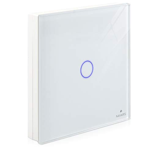 Navaris Transmisor inalámbrico de luz - Interruptor de pared táctil - Conmutador...