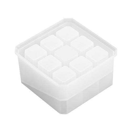 YSpoe - Caja de almacenamiento hecha a mano para niñas, diseño de espejo, 9 cuadrados, silicona, organizador...
