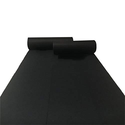 Schwarz-Vlies Teppich Einweg Verdickung 2 MM Full Roll Rutschfeste Verschleißfeste Läufer für Party/Gang/Treppen Teppich (größe : 1.2Mx50M)