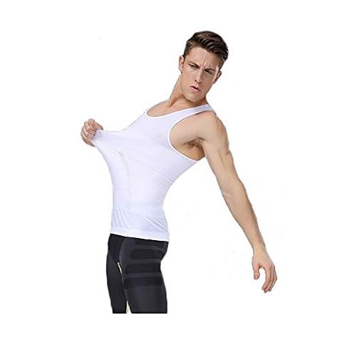 Abnehmen Body Lift Shaper Bauch Buster Taille Shapewear Compression Vest, Größe DE L/Tag XL, Farbe Weiß