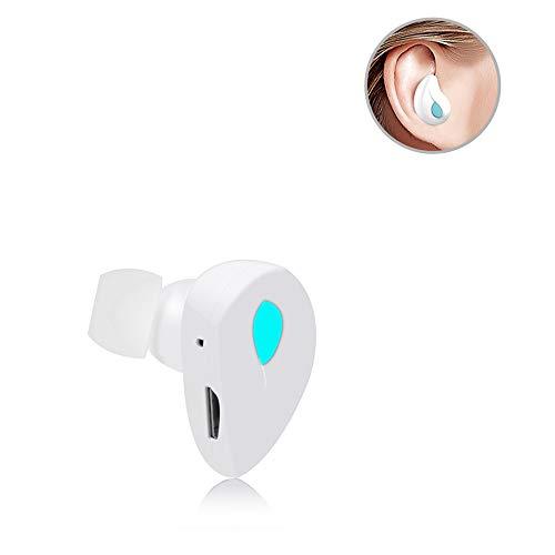 Kopfhörer, Mini Earphone Wireless Bluetooth Headset Sweatproof In-Ear-Ohrhörer für Business Sport Fahren für Apple iPhone iPhone 8 iPhonex Samsung Android, Freisprechen, Weiß ()