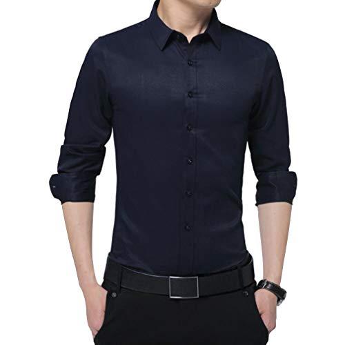 Irypulse Herrenhemd Slim Fit Lässiges Hemd Seidenhemd Dünnes Männliches Business Bügelleicht Für Anzug Hochzeit Freizeit Arbeit Super Qualität Langarm Hemd für Männer-Schwarz