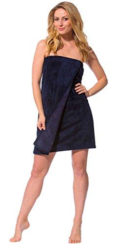 Bambus Damen-rock (Morgenstern Damen Saunakilt mit Knöpfen 70 cm kurz knielang, Nachtblau, Einheitsgröße)