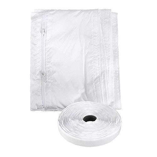 Fishyu 4 mt Universal Fensterdichtungsstoff Portable Sealing Baffle Heißluft Stop für Klimaanlage Wäschetrockner -