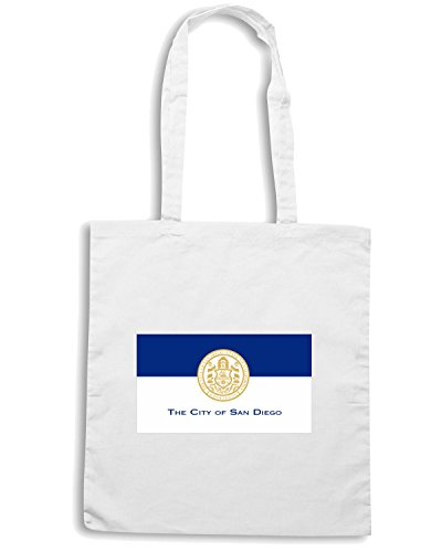 T-Shirtshock - Borsa Shopping TM0061 City Of San Diego citta Bianco