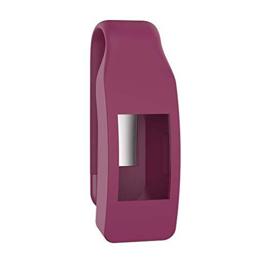 VvXx Schutzhülle für Fitbit Isnpire/Isnpire HR Tracker, aus Metall und Stahl, rot -