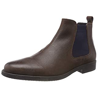 Geox Men's U Jaylon H Chelsea Boots, (Dk Coffee C6024), 10.5 UK