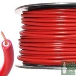 Bougie Allumage allumage HT Fil De Câble cœur PVC Rouge 7mm
