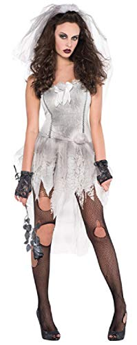 Bride Dead Corpse Kostüm - Fancy Me Damen Sexy Drop Dead Gorgeous Zombie Corpse Bride Halloween Kostüm Outfit UK 8-16