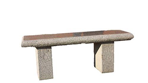 Granit Gartenbank, grauer Granitstein, Bank, Frostfest