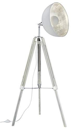 Lampenfuß Grau/Weiß Streifen