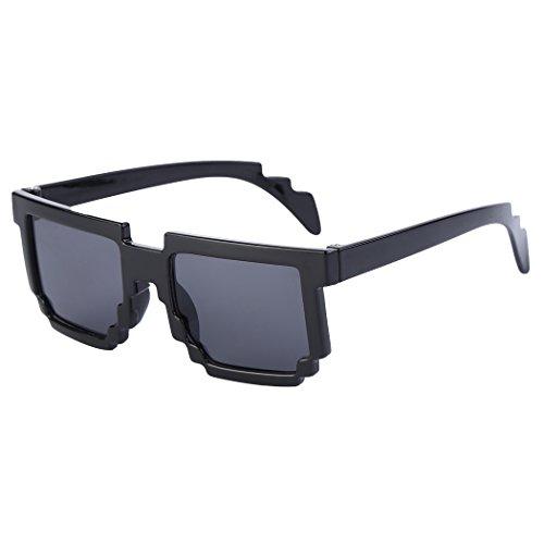 MIOIM® PVC Sonnenbrille Mode Sunglasses Mosaiken Pixel Brille UV400 für Jungen und Mädchen 145*138*50mm (80er Mode Für Kinder)