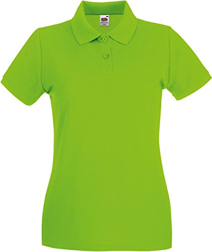 Fruit of the Loom Lady-Fit Premium Poloshirt 63-030-0, Größe:XXL;Farbe:Lime (Pique Womens Premium Polo)