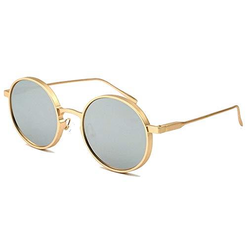 @W.H.Y Retro runder Spiegel Spiegel Straße Gezeitennetz rote Sonnenbrille Europäische und amerikanische Bunte Mode-Sonnenbrille,B