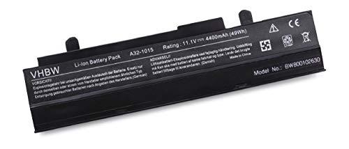 vhbw Batterie LI-ION 4400mAh 10.8V noire pour ASUS Eee PC 1011PX, 1015, 1015P etc. remplace A31-1015, AL31-1015, A32-1015, PL32-1015