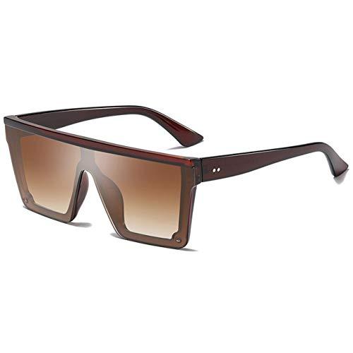 AOCCK Brillen Sonnenbrillen Square Sunglasses Men Women Mirror Lady Glasses UV400 Driving Sun Glasses Male Flat Top Eyewear Lentes De Sol Hombre tea
