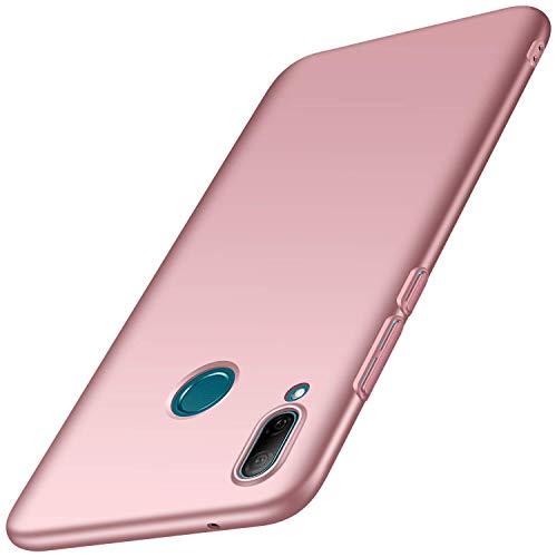 AOYIY Huawei Y7 (2019) Hülle, Bumper Cover PC Plastik Harte Case Ultra Slim Matt Handyhülle Schutzhülle Für Huawei Y7 (2019)-Roségold